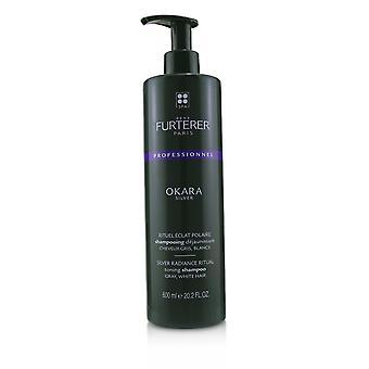 Okara zilver zilveren uitstraling ritueel toning shampoo grijs, wit haar (salon product) 237715 600ml/20.2oz