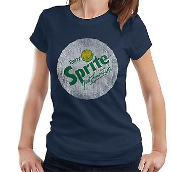 T-shirt das mulheres do logotipo retro do sprite 80s Bottlecap