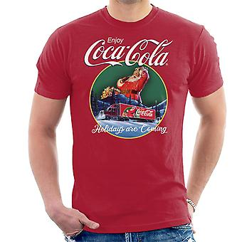 Coca Cola Holidays Are Coming Truck Men's T-Shirt