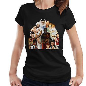 Lørdag kveld Post Norman Rockwell gjøre til andre kvinner og apos;s T-skjorte