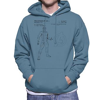 Marvel Avengers Infinity Krieg Black Panther Patent Herren Sweatshirt mit Kapuze