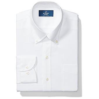 ボタンダウンメン&アポス;sスリムフィットボタンカラーソリッドノンアイアンドレスシャツ(ポケット.