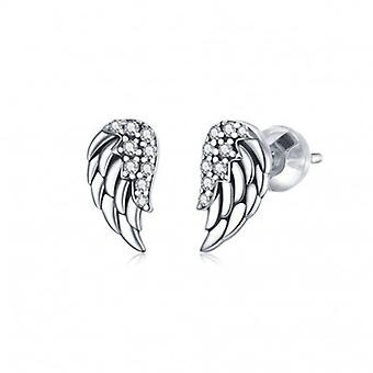 Silver Earrings Vintage Wings - 6679