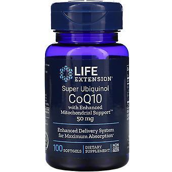 Prolongation de la durée de vie utile, Super Ubiquinol CoQ10 avec support mitochondrial amélioré, 50 mg