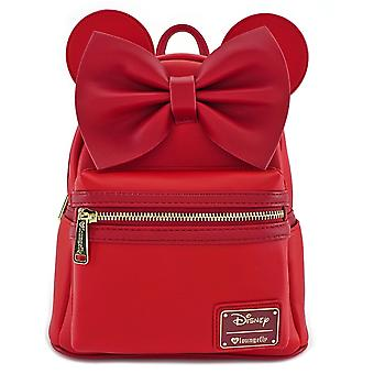 Loungefly Disney Red Minnie Ears & Bow Faux Leather Mini Backpack