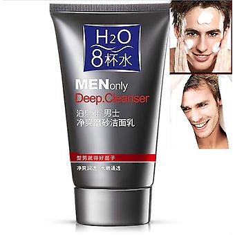 Men Skin Care Deep Cleansing Scrub, Ulei de control, Acnee, Blackhead Cleanser