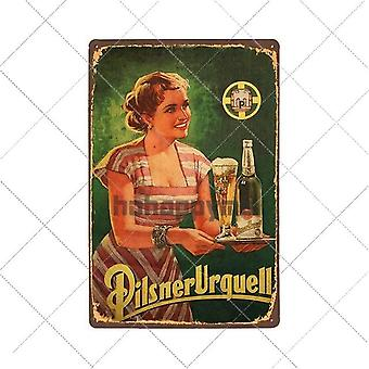 Beer Poster Vintage Metal Tin Sign For Bar Pub, And  Wall Decorations