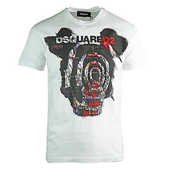 Dsquared2 מאוד מאוד דן מתאים לבן חולצת טריקו