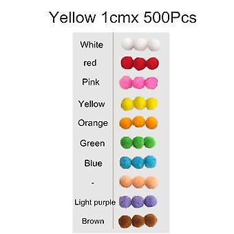 500pcs 10mm Soft Round Ball Mixed Color For Diy