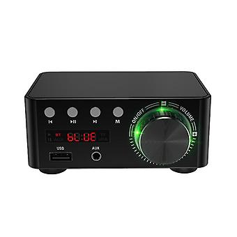 RISE-50W X 2 Mini Class D Stereo Bluetooth 5.0 Amplifier 3.5mm USB Input Hifi Audio Home AMP for Mobile/Computer/Laptop