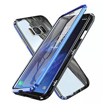 Stuff Certified® Samsung Galaxy S8 Plus Magnetic 360 ° Case with Tempered Glass - Full Body Cover Case + Screen Protector Blue