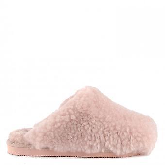 Shepherd of Sweden Jenny Sheepskin Slippers Pink