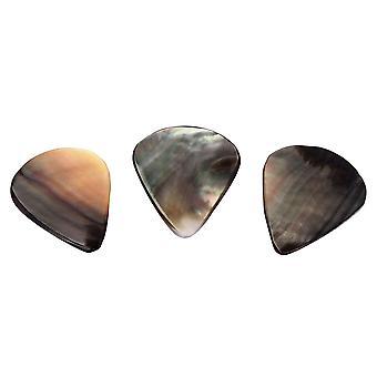 Natural Water Drop Type Black Guitar Pick Picks Mixed Jewel Pendant