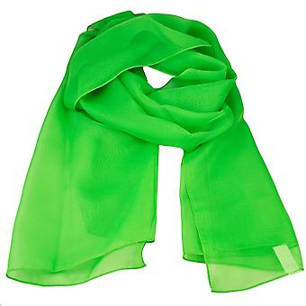 Ties Planet Plain Bright Green Chiffon Scarf