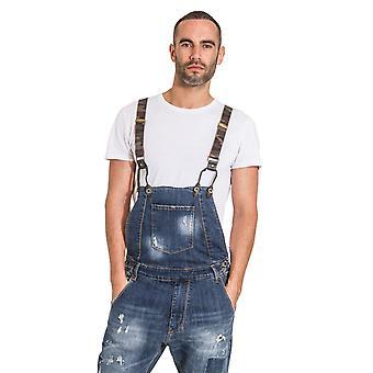 לזלו גברים טיפה מכנסי ג'ינס מצוקה