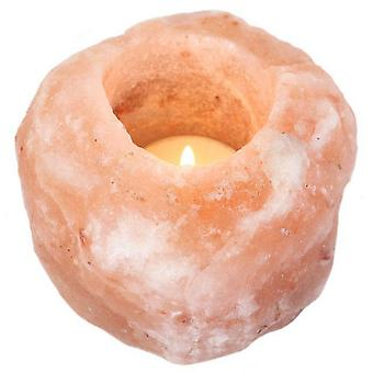 Sostenedor de vela solo algo diferente de la sal del Himalaya