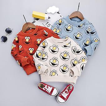 Vauvan pullover syksy, sarjakuva kuvio, collegepaidat puserot päällysvaatteet