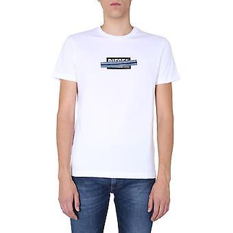 Diesel A003590catm100 Männer's weiße Baumwolle T-shirt