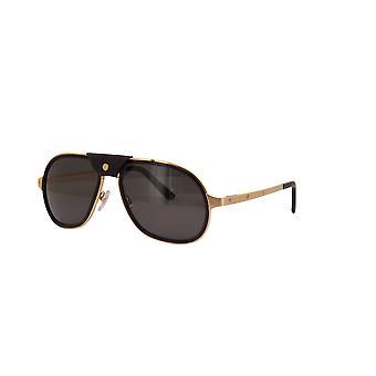 Cartier CT0241S 001 Gafas de sol polarizadas en negro-oro/gris