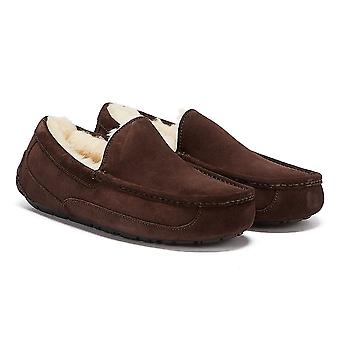 UGG Ascot Suede Mens Espresso Brown Slippers