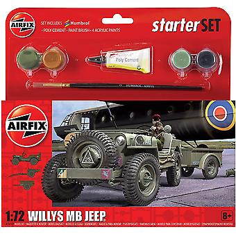 Airfix Starter Set Jeep Mb (Juni 2019) (Aw Cat 2019)
