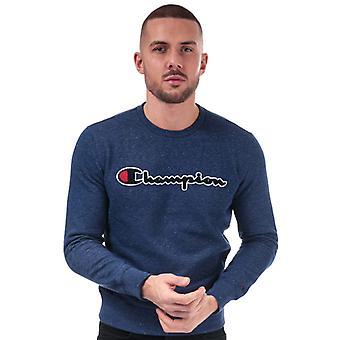 Men's Champion Large Logo Sweatshirt en bleu