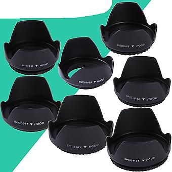 Screwed Flower Petal Sunshade Universal Lens Hood Voor Nikon / Canon / Sony / Dslr