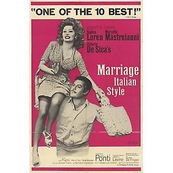 Poster do filme de casamento estilo italiano (11 x 17)