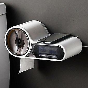 Bathroom Abs+pp Toilet Tissue Box - Waterproof Roll Holder