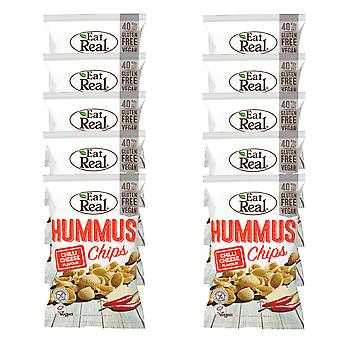 10 x 45g Humous Chilli Cheese Corn Puffs Crisps Chips Vegan Snack Food Gluten FREE