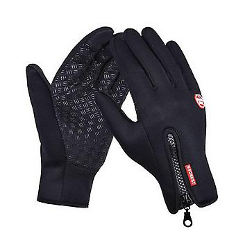 Men's And Women's Fleece Gloves, Touch Screen, Windproof, Warm Riding, Neutral