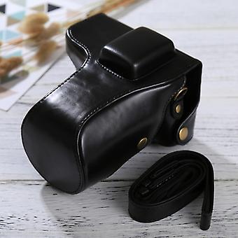 Celé telo fotoaparát PU kožené puzdro taška s popruhom pre Samsung NX300 (Čierna)