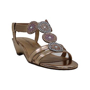 Karen Scott mulheres Catrinaa Open Toe formal Strappy sandálias