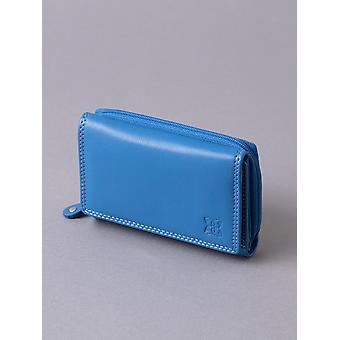 Borsa di cuoio di 12,5 cm in blu
