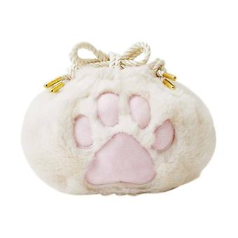 Cute Cat Claw Drawstring Cosmetic Bag Storage Bag Portable Drawstring Pocket Creative Valentine's Day Gift Birthday Gift