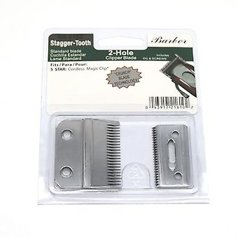 Professional Stagger-tooth 2-hole Clipper Blade