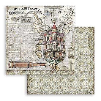 Stamperia Lady Vagabond fliegende Schiff 12 x 12 Zoll Papierblätter