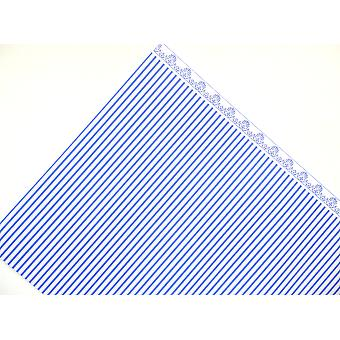 Melody Jane Dolls House Blue On White Windsor Stripe Miniature Print Wallpaper