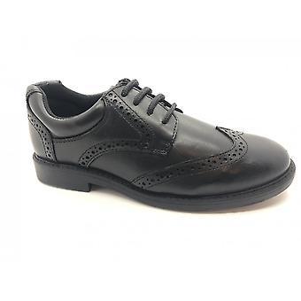 TERM FOOTWEAR Laced Brogue School Shoe