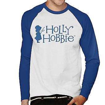 Holly Hobbie Silhouette und Logo Männer's Baseball langärmelige T-Shirt