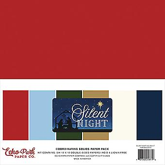 Echo Park Silent Night 12x12 Inch Coordinating Solids Paper Pack