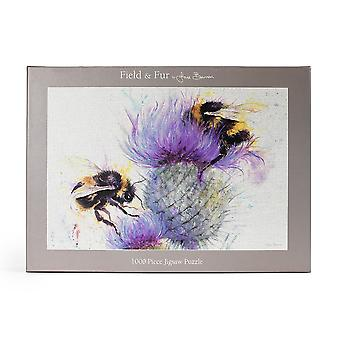 Jane Bannon Bees on Thistle Jigsaw Puzzle