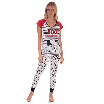 Women's Disney 101 Dalmatians Pyjamas in White