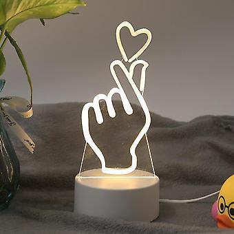 Romanttinen rakkauslamppu, akryyli yö koristeellinen pöytälamppu