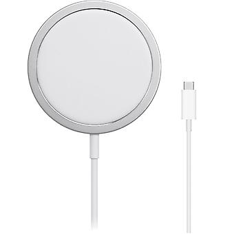 Apple MHXH3ZA/A Magsafe Chargeur sans fil, USB type C, 15 W, pour iPhone - blanc