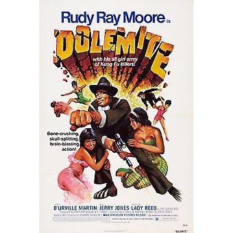 Dolemite nos cartel Rudy Ray Moore 1975 película cartel Masterprinter