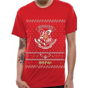 Harry Potter Unisex Adults Xmas Crest Design T-shirt