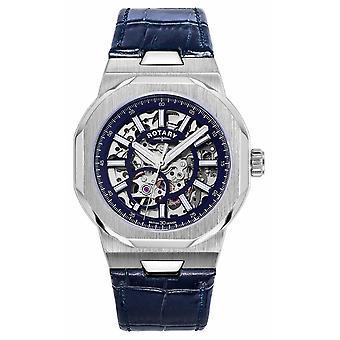 Roterande | Regent | Automatisk | Blå skelettratt | Blå läderrem GS05415/05 Klocka