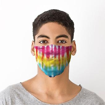 Revêtement de visage de teinture de cravate d'arc-en-ciel - grand