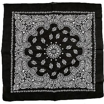 Unisex Cotton Blend Hip Hop Black Bandana Headwear Headband Scarf